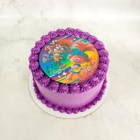 Торт №449 - Тролли фиолетовый
