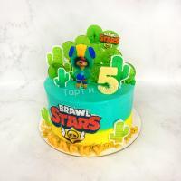 Торт №460 - Бравл Старс в пустыне