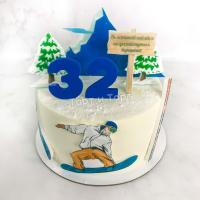 Торт №466 - Сноубордист