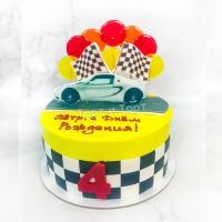 торт мальчику с машинкой спб