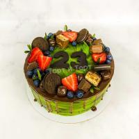 Торт №473 -  В стиле хаки с шоколадками