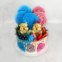 Торт 496 -  Двойное день Рождения