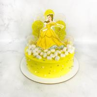 торт с принцессой бель