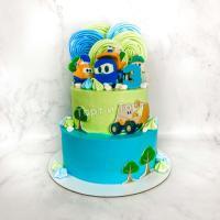 торт синий трактор мальчику