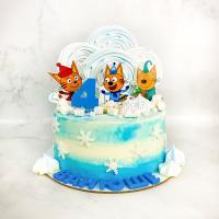 Торт №512 - 3 кота. Зима