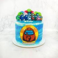 торт амонг ас на день рождения
