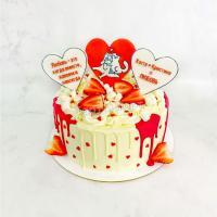 Торт №531 - Влюбленные коты
