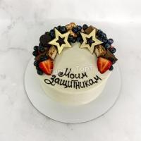 Торт 650 -  Торт со звёздами и ягодами