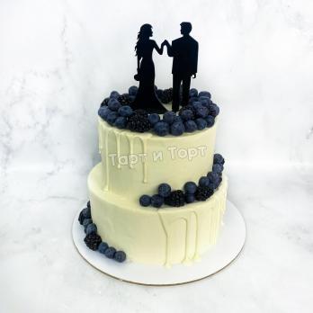 Торт 543 Свадебный с фигурками с доставкой по СПБ