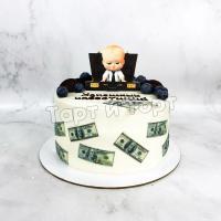 Торт №307 - Корпоративный на день рождения коллеге