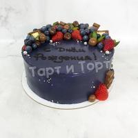 Торт №268 - Темный с ягодами