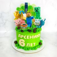 торт мальчику на 7 лет майнкрафт