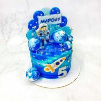 торт мальчику с космонавтом