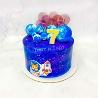торт мальчику на 7 лет космос