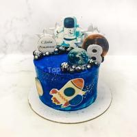 торт мальчику в космическом стиле