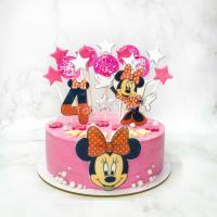 Торт №513 - Минни Маус розовый с леденцами