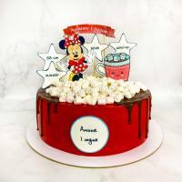 Торт №518 - Минни Маус с маршмеллоу