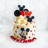 Торт №538 - Микки Маус белый