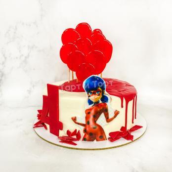 Торт №453 -  Леди Баг и Супер Кот с лединцами