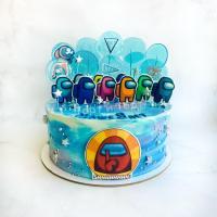Торт №533 - Амонг Ас голубой
