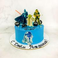 Торт №143 - Звёздные войны синий