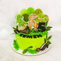 Торт №167 - C динозаврами на 5 лет