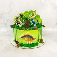 Торт №166 - C динозаврами на 5 лет