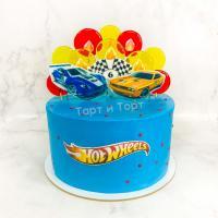 Торт №154 - Хот Вилс голубой