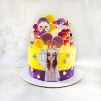 Торт №282 - Девочка в кигуруми 2