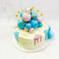 Торт №240 - Мальчик или девочка, на определение пола с шариками