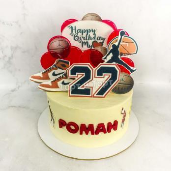 Торт №663 - Парню в баскетбольном стиле