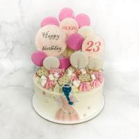 Торт №678 - Девушке с леденцами и шоколадом