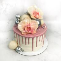 Торт №679 - С орхидеей