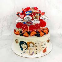 Торт №681 - В стиле поп с мультяшками