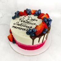 Торт №683 - Маме с ягодами 2х цветов