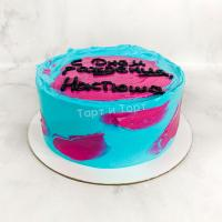 Торт №686 - Розово-голубой мазками
