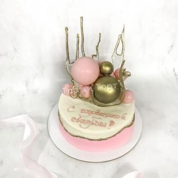 Торт №687 - Ваза с шарами