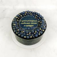 Торт №692 - Черный с голубикой