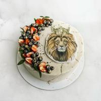 Торт №695 - С ягодами и львом
