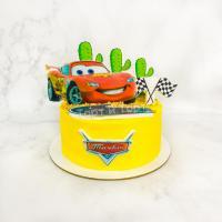Торт №688 - Тачки желтый молния маквин