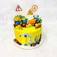 Торт №691 -  Желтый с техникой