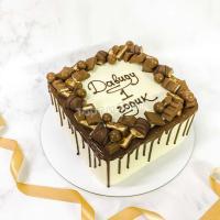 Торт №705 - белый с шоколадом